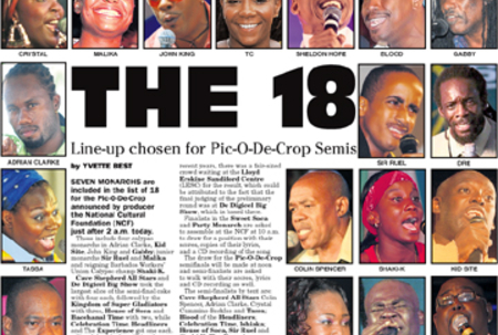 The 18 Pic-O-De-Crop semi-finalists