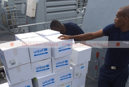 Barbados Coast Guard vessel arrives in Dominica with supplies
