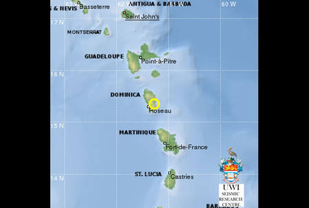Quake recorded on Dominica's Independence Day
