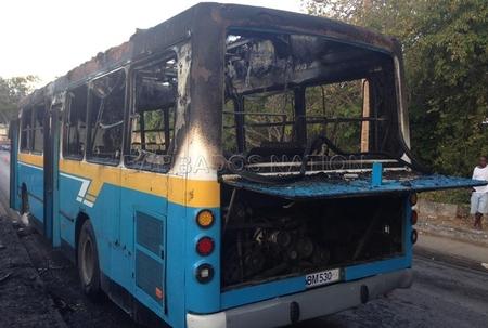 Fire guts Transport Board bus