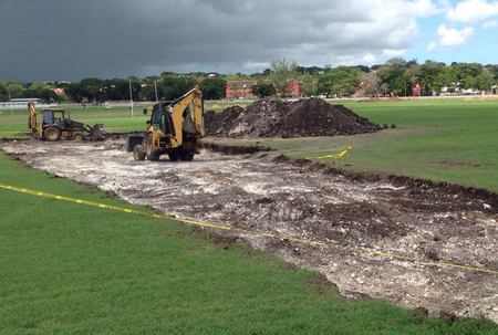 Construction starts at Garrison Savannah for National Monument