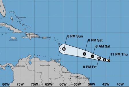 Hurricane Beryl to pass north of island