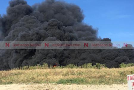 Landfill on fire