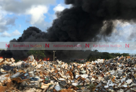 Fire at recycling business