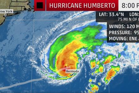 Humberto packs a punch as it nears Bermuda