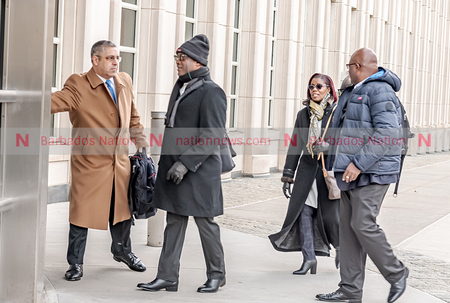 Donville Inniss arrives for trial