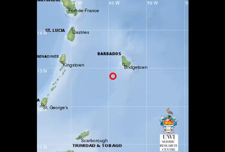 Morning quake off south coast