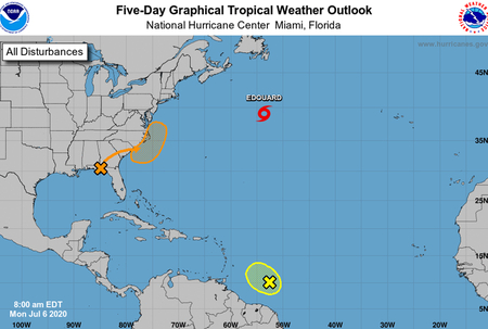 Tropical wave approaching Windwards