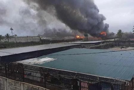 Fire destroys prison in Guyana