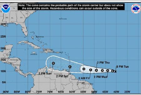 Tropical Depression Seven forms in Atlantic