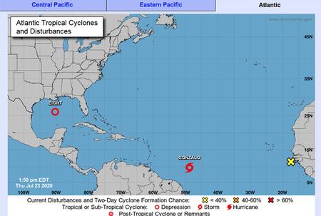 Update: Tropical Storm Gonzalo weakens
