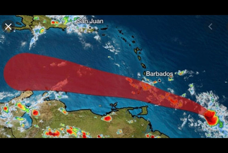 Hurricane watch off, tropical storm warning still in effect