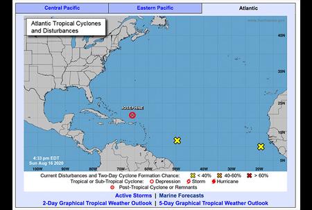 Met Office monitors two tropical waves