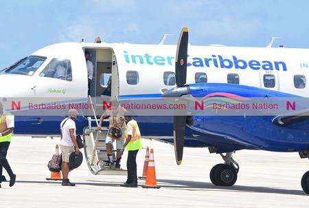 First interCaribbean flight lands