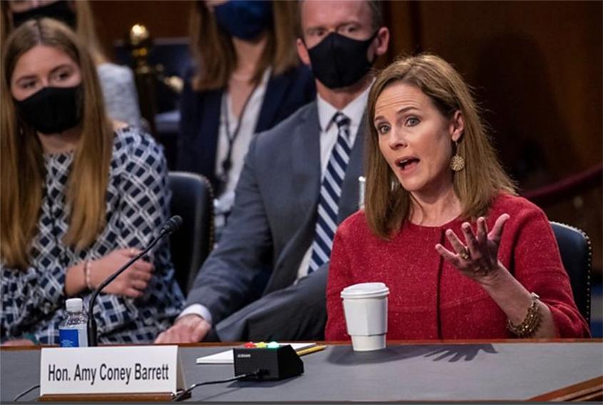 Trump's Supreme Court nominee avoids questions