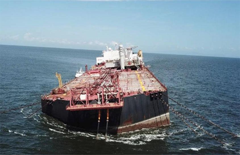 Eyes on tilting oil tanker for spill