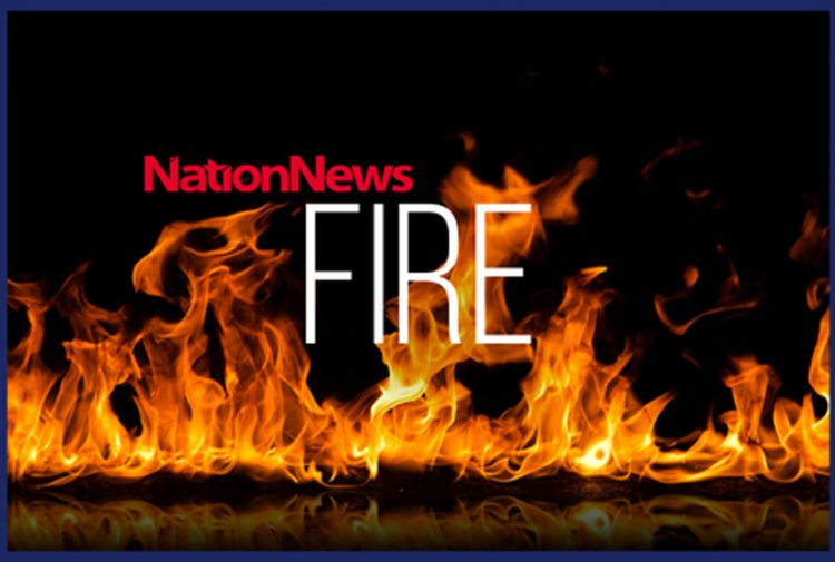 House fire at Fitts Village