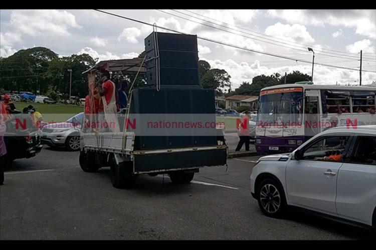 BLP motorcade in St George North