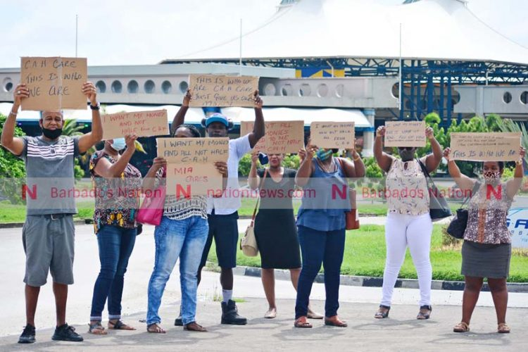 Former CAH workers protest non-payment of severance