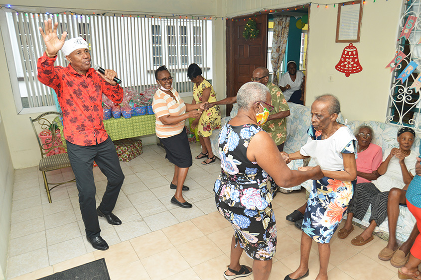 Barbados Light and Power spreads Christmas cheer at senior homes