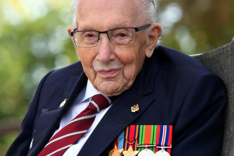 Britain's centenarian fundraiser Captain Tom in hospital with COVID