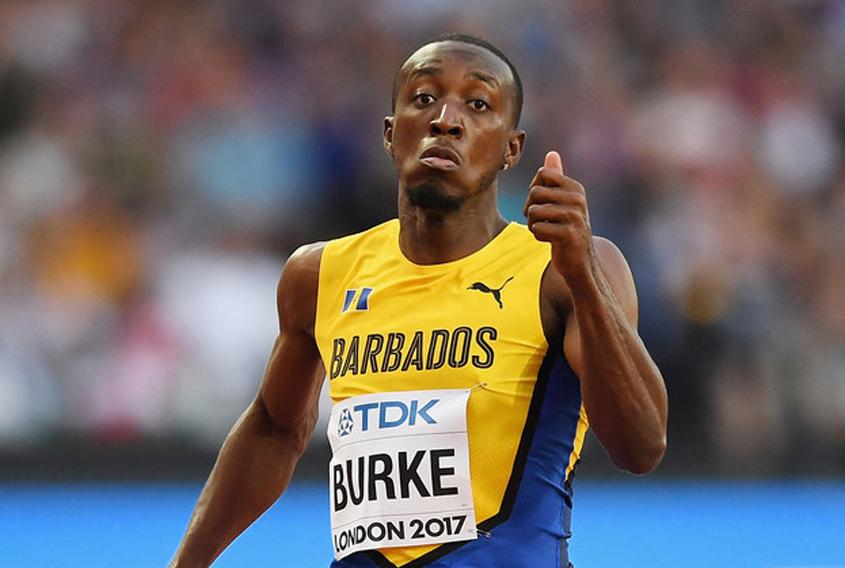 Burke slowed by injury in 100m heats