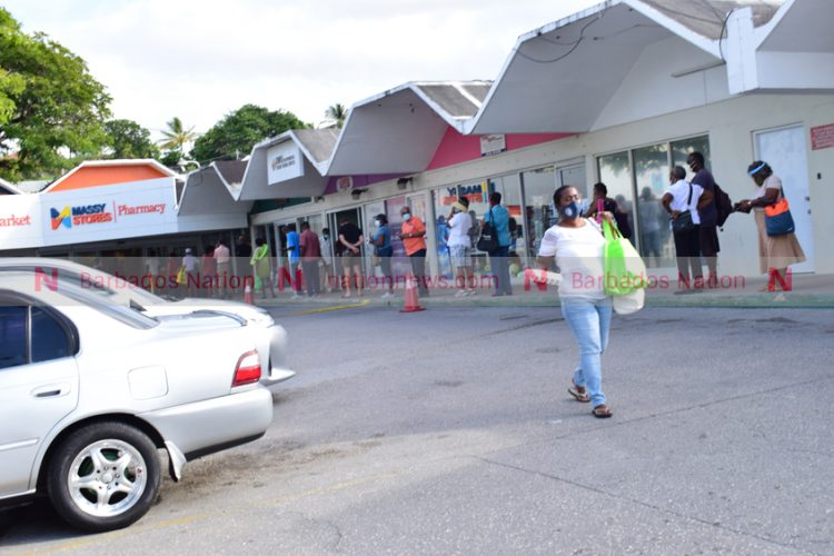 Shoppers trying to beat the rush