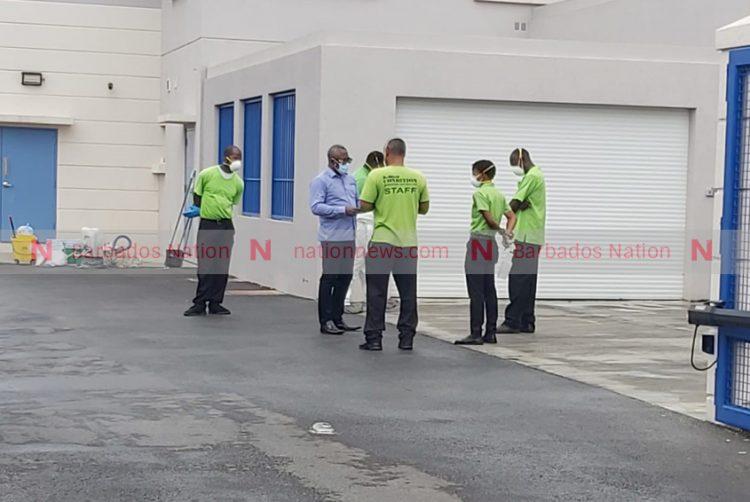 Hastings Police Station being sanitised