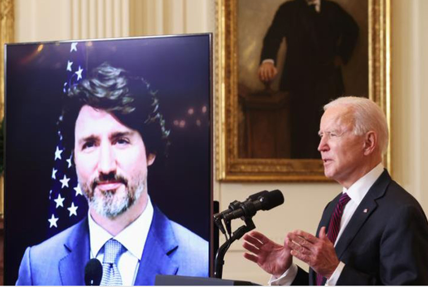 Biden, Trudeau hold first bilateral meeting