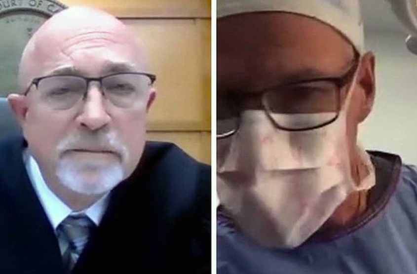 Surgeon joins Zoom court hearing while operating on patient