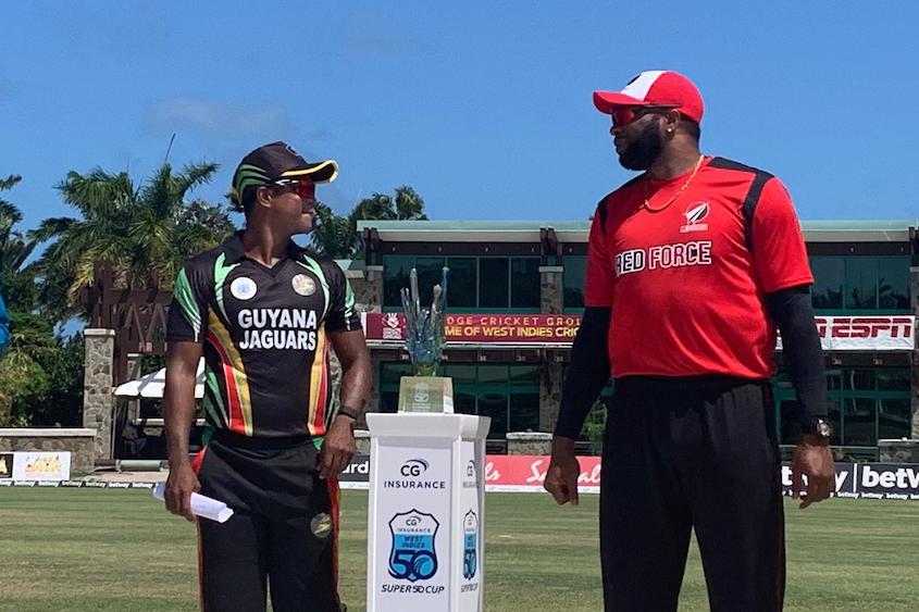 Jaguars win toss, fielding vs Red Force in Super50 Cup final
