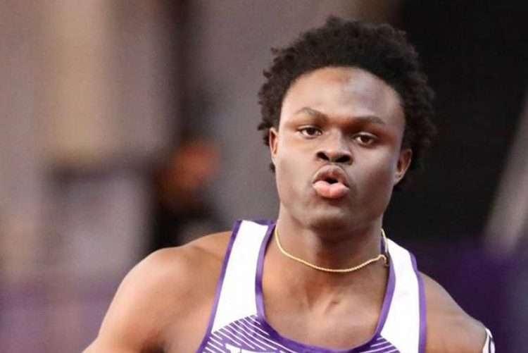 Gale sets college indoor record