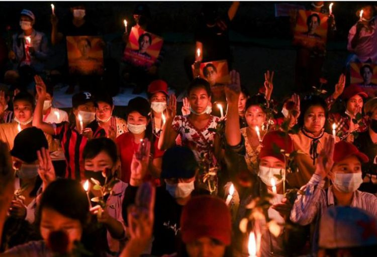 Anti-coup protest grows in Myanmar