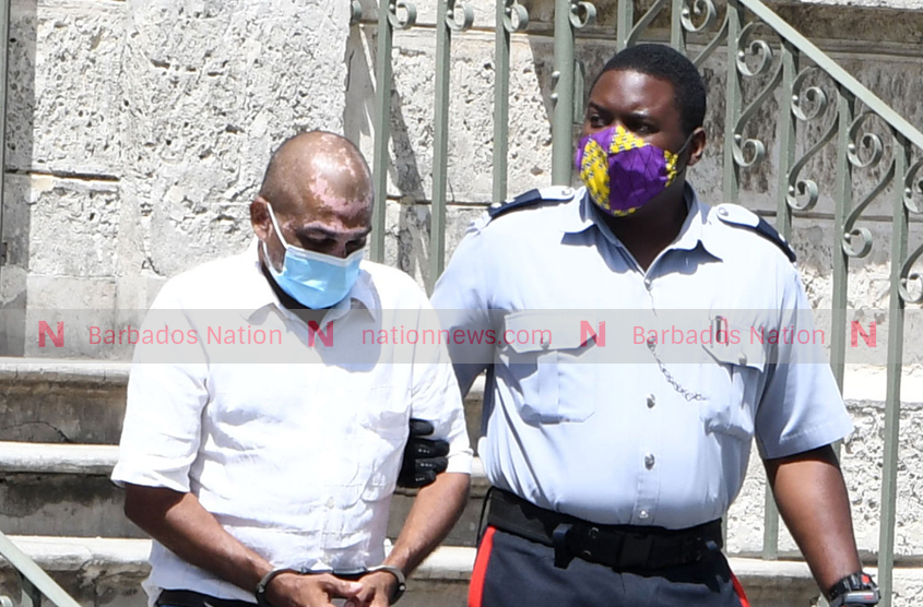 Remanded store owner in hospital