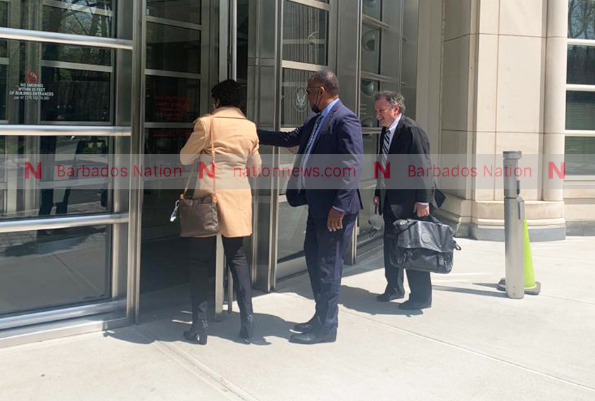 Inniss arrives at court for sentencing