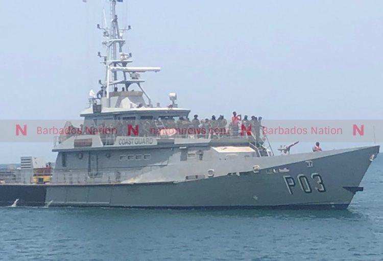 Barbados Coast Guard vessel arrives in St Vincent