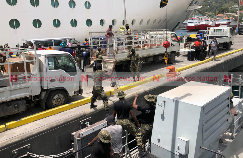 Coast Guard arrives in St Vincent