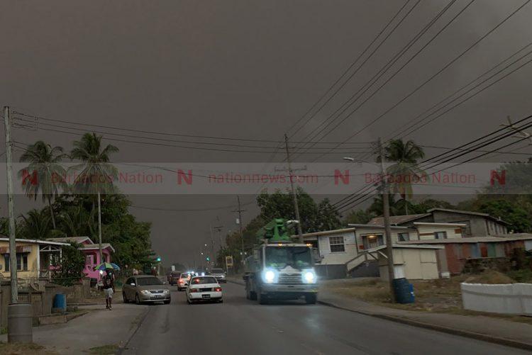 Volcano ash turns northern skies dark