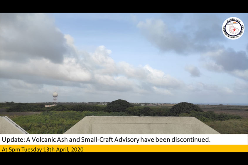 Volcanic ash and small-craft advisory discontinued
