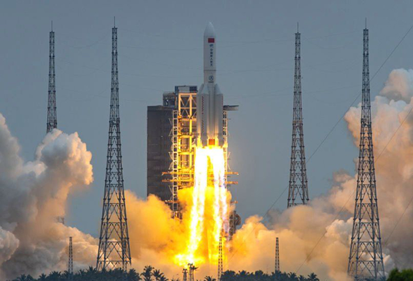 State media: Chinese rocket debris crashes into Indian Ocean