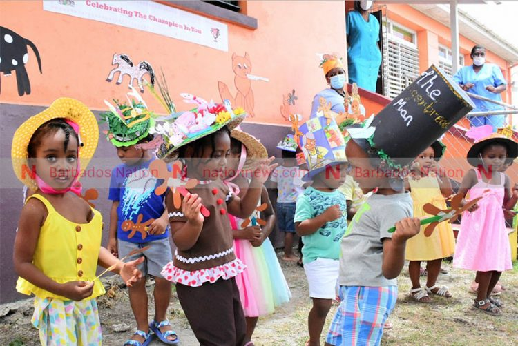 Gingerbread Man hat parade at primary school