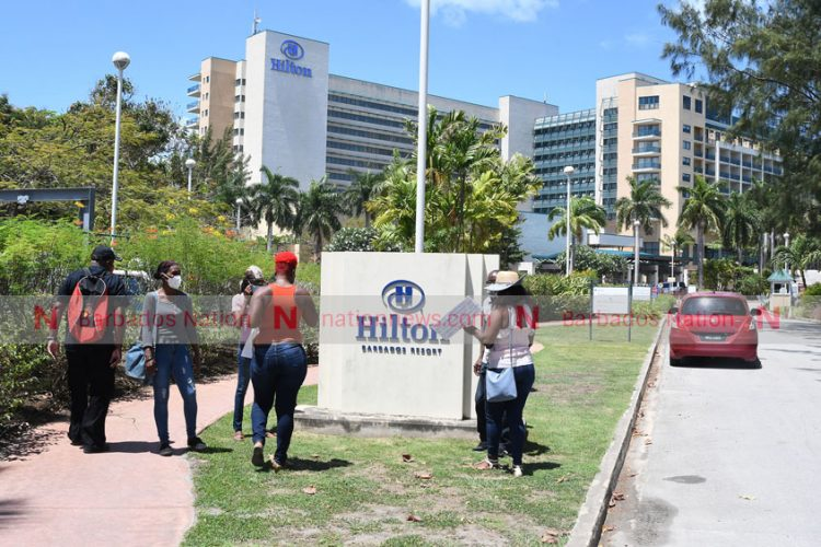 Former hotel workers stage another protest