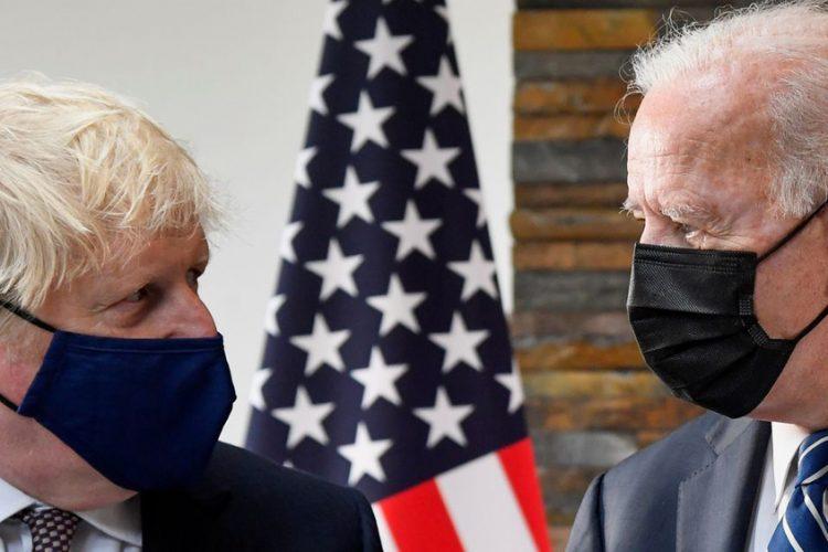 Biden meets UK's Johnson, delivers warning over Northern Ireland