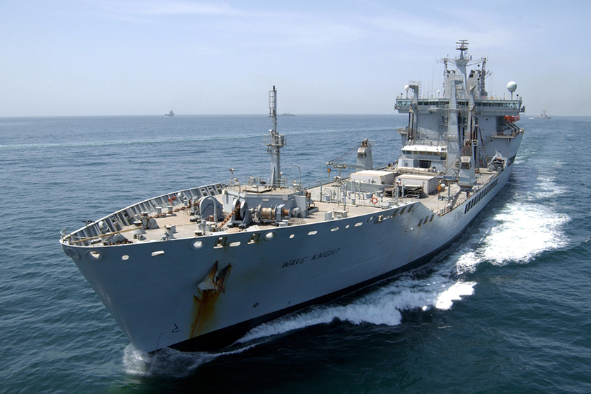 British Navy delivers supplies to St Vincent