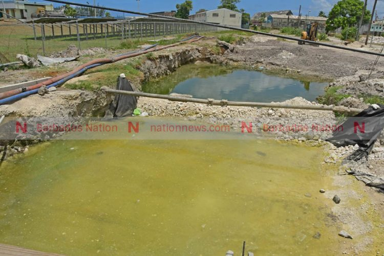 Flood of dirty water bothers residents