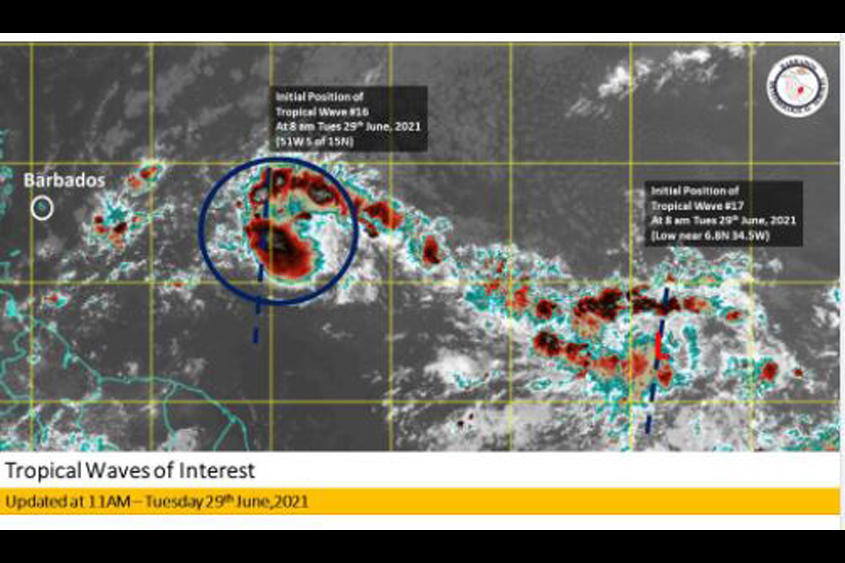Met Office monitoring two tropical waves