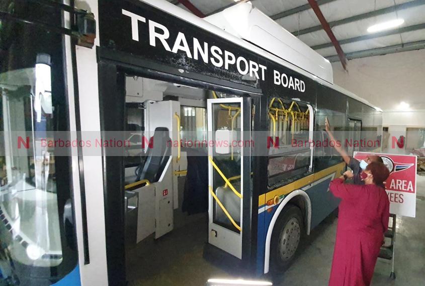 Transport Board bus vandalised