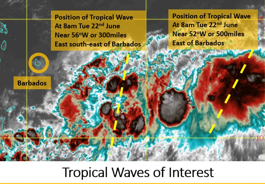 Tropical wave to bring rain, thunderstorms
