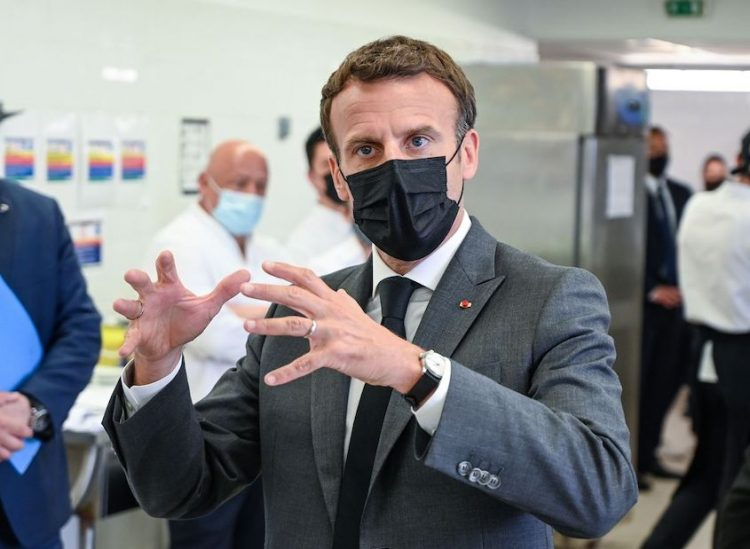 Macron slapped in the face
