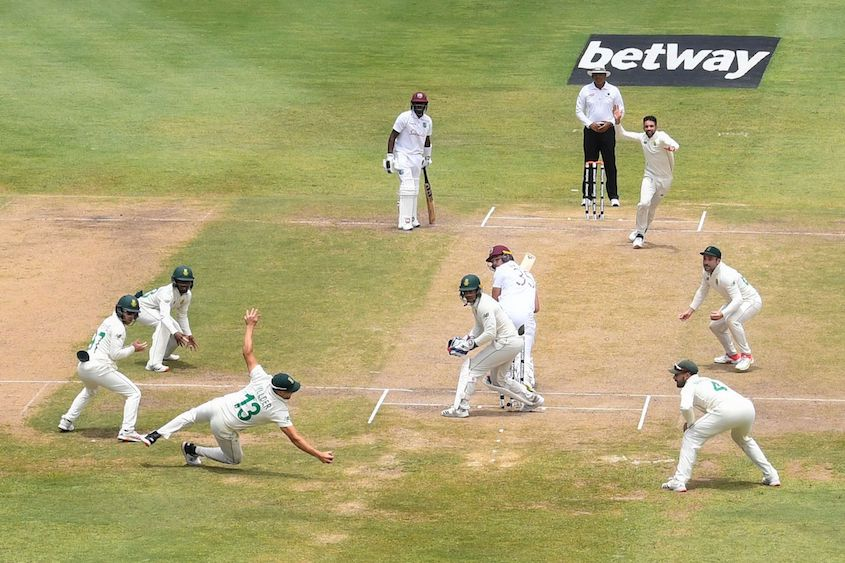 Windies crumble after Maharaj hat-trick
